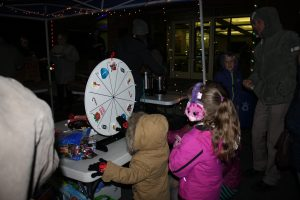 Kids Spinning the Wheel