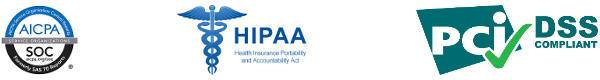 SSAE 16 Audited and PCI and HIPAA Compliant