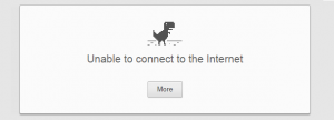 dinosaur google unable to connect